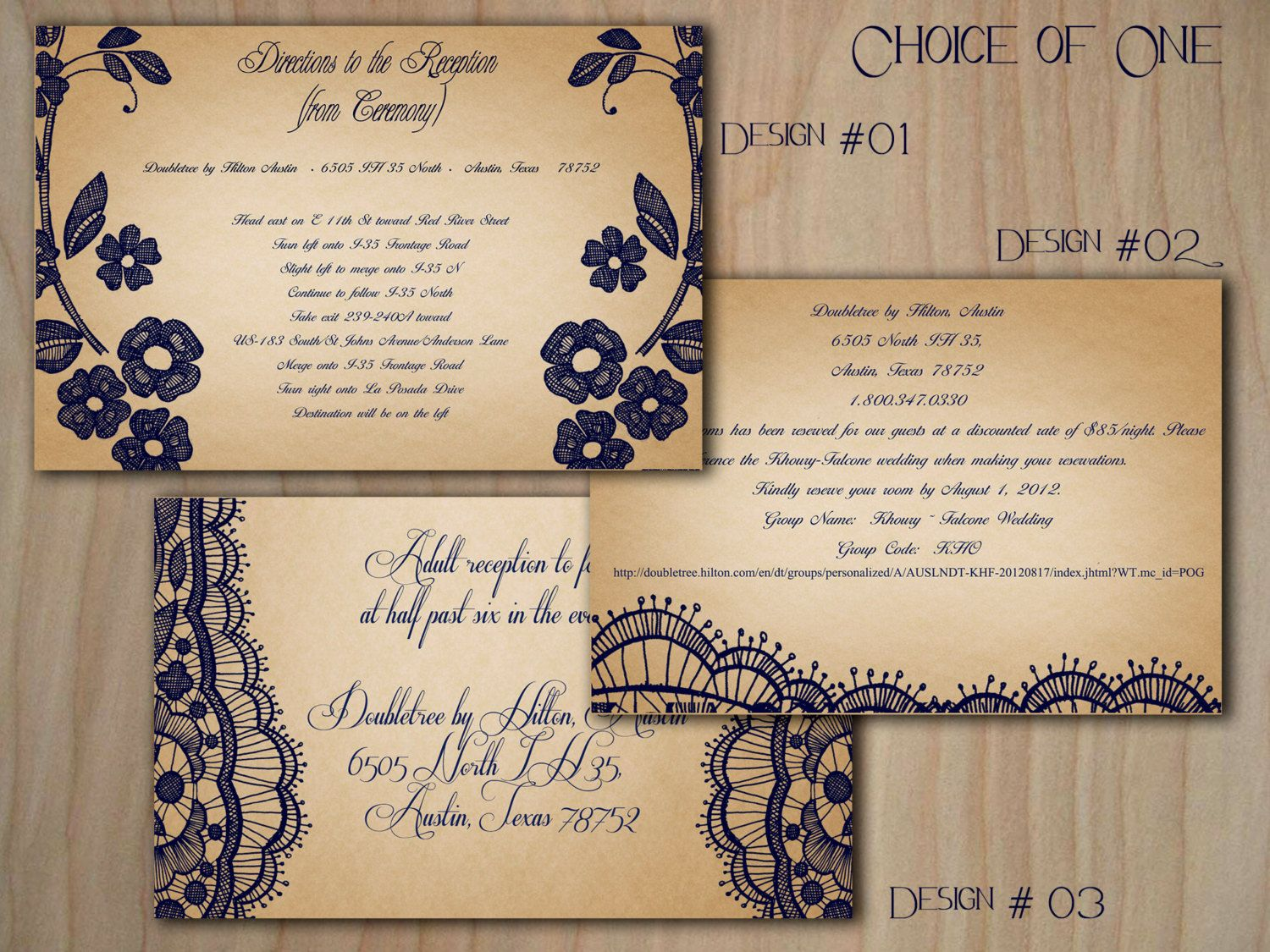 Printable VINTAGE WEDDING INVITATIONS Bellevue Suite