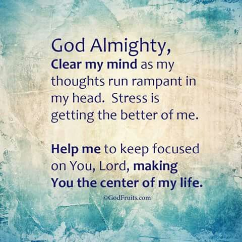God Almighty Clear My Mind 3 Jesus Lord Of My Life God