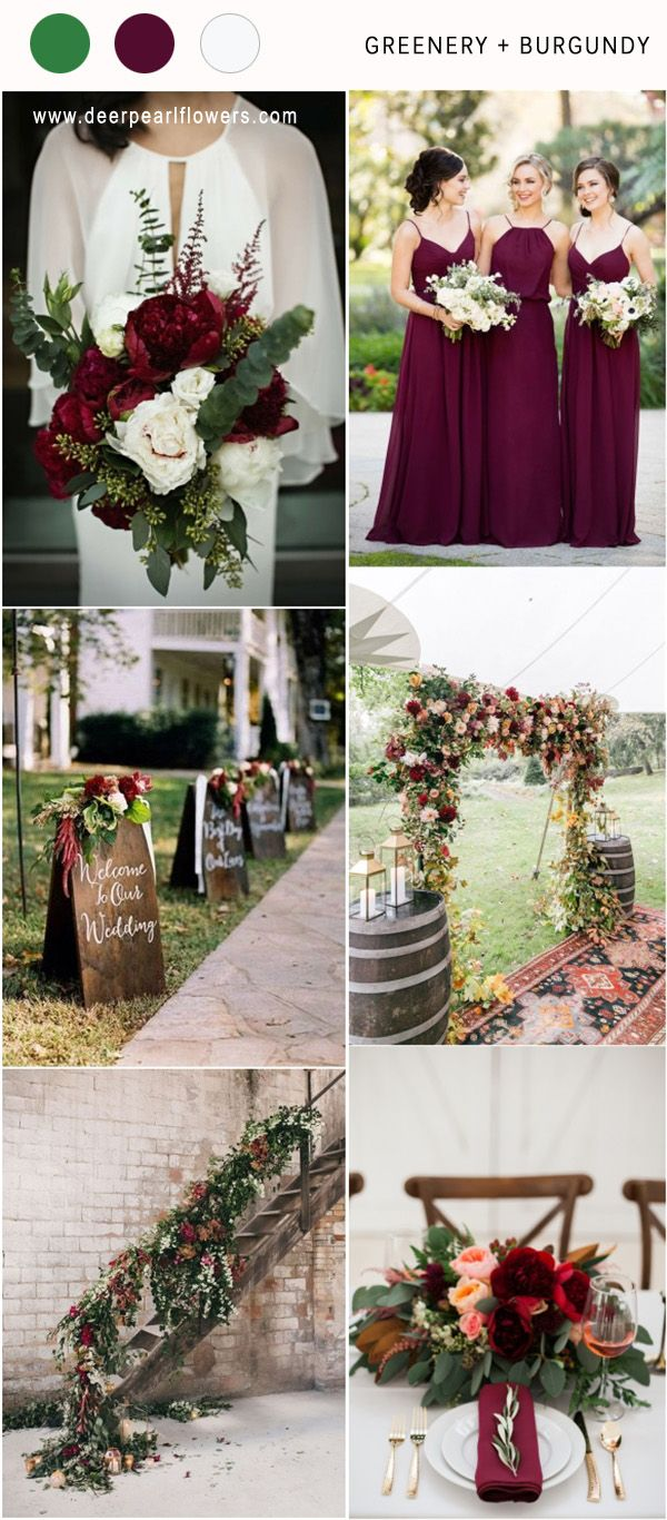 Top 8 Greenery Wedding Color Palette Ideas for 2018 | Winter ...