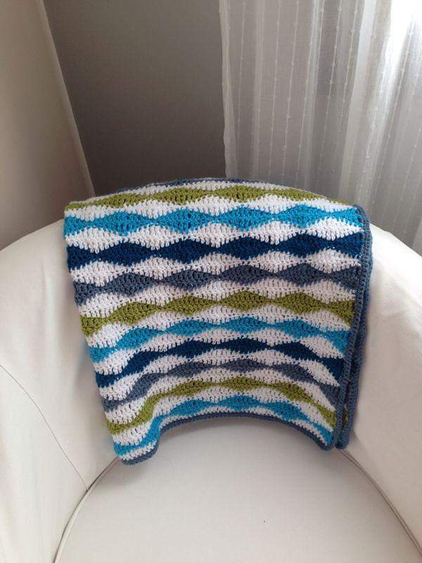 Wavy Baby Blanket By Stephanie Gage - Free Crochet Pattern ...