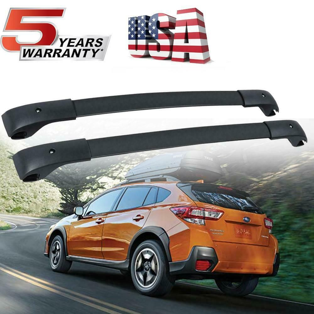 For 2018 2019 Subaru Crosstrek Roof Rack Cross Bar Pair
