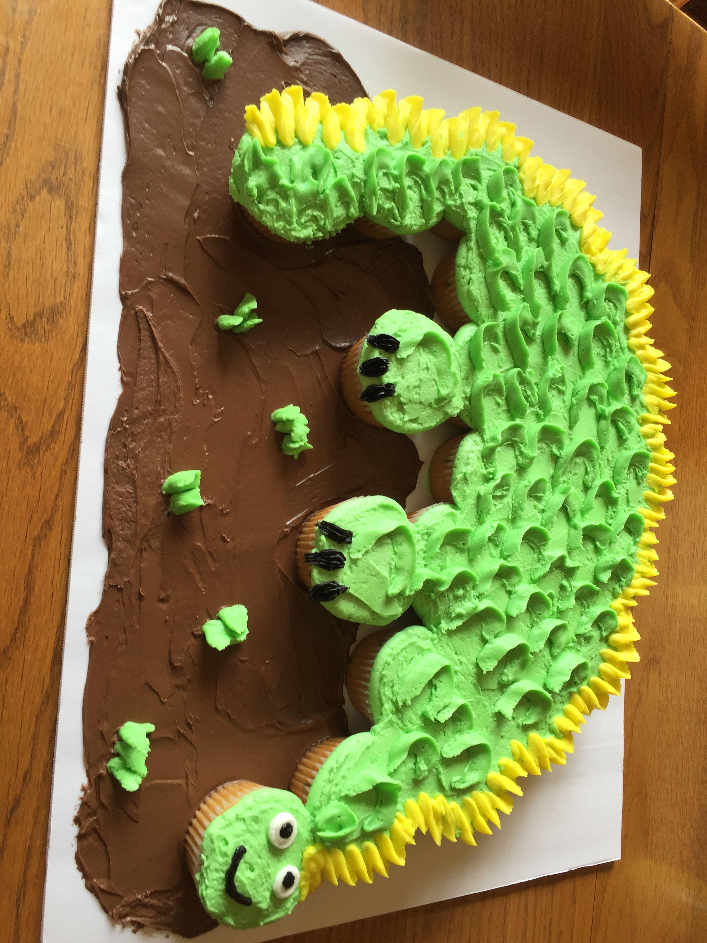 Dinosaur Cupcake Pull Apart Cake Bux Girls Cupcakes Caramel Corn