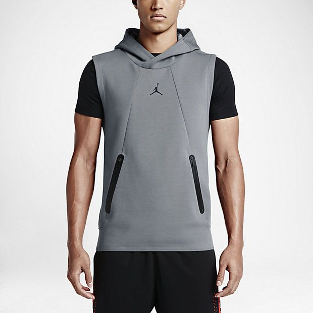 Air Jordan Lite Fleece SchwarzSchwarz  Training Sleeveless Hoodie