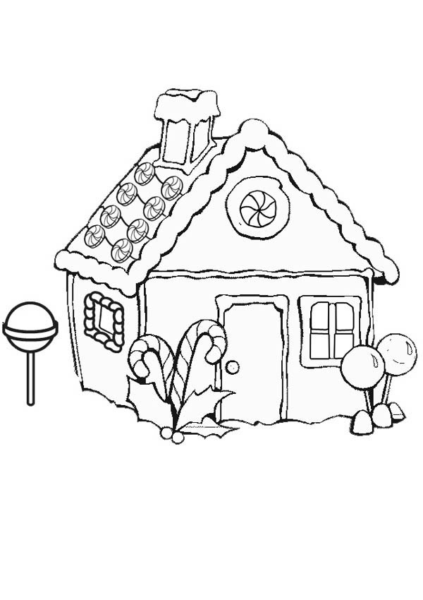 Gingerbread House On Snow Coloring Page Netart Christmas Coloring Pages People Coloring Pages Coloring Pages