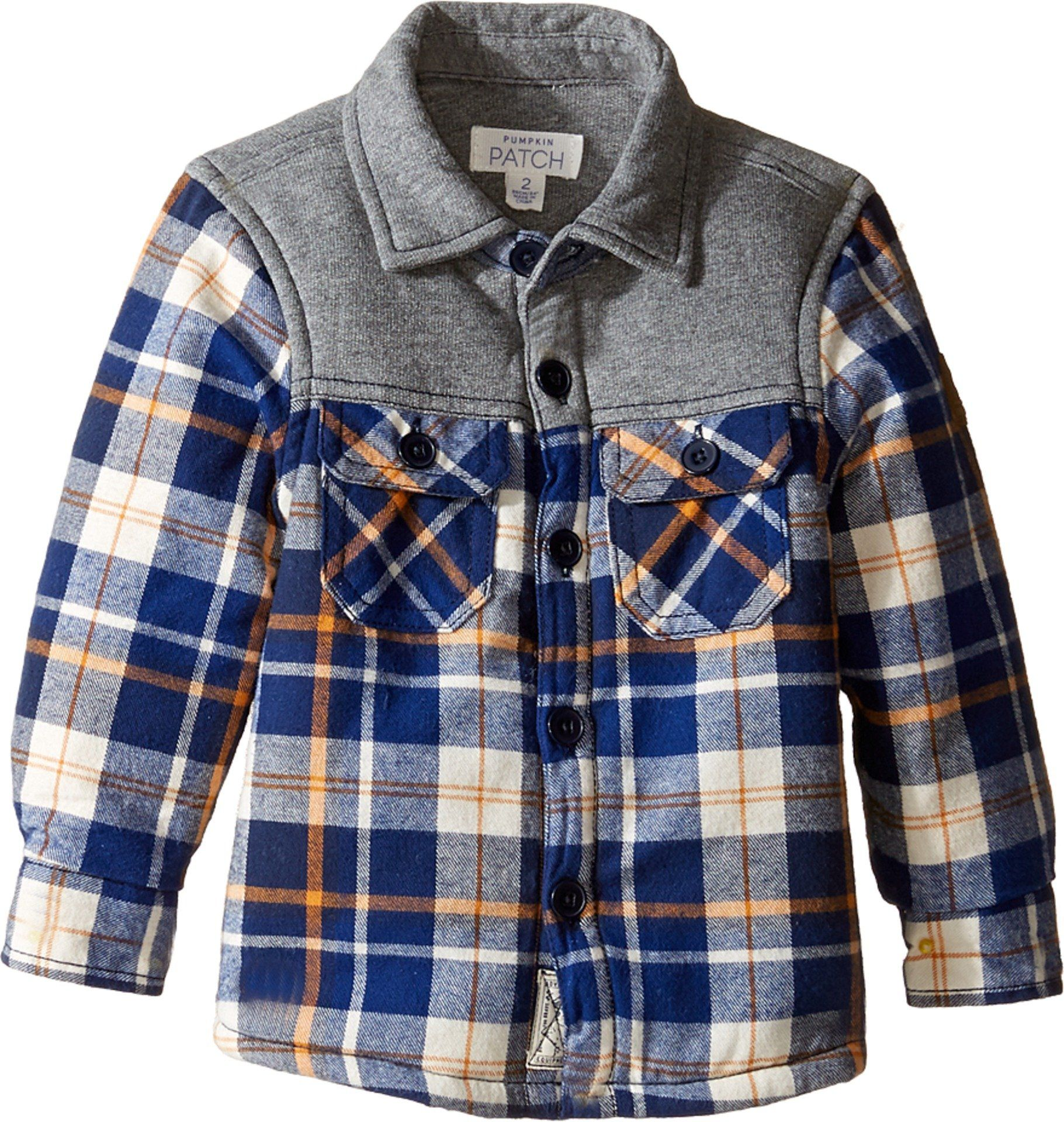 45a8baf9 Pumpkin Patch Kids Baby Boy's Spliced Check Shirt Jacket (Infant/Toddler/Little  Kids