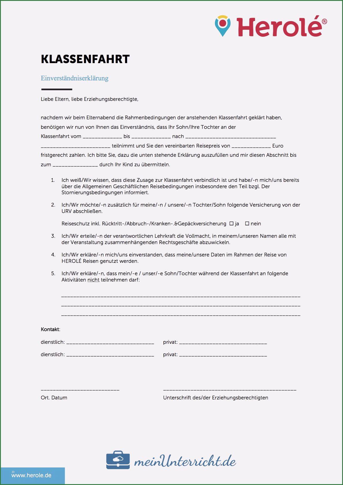 Beste Einverstandniserklarung Vorlage In 2020 In 2020 Klassenfahrt Elternbriefe Briefkopf Vorlage