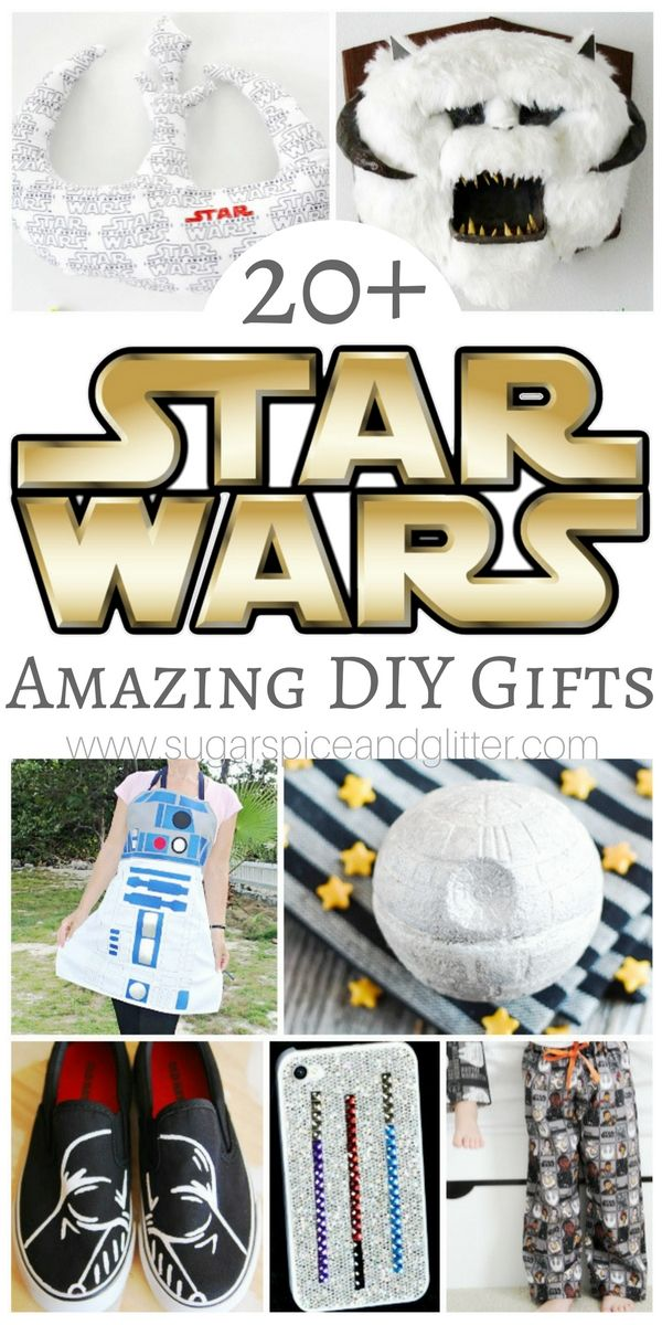 20 Awesome Diy Star Wars Gifts Because Everyone Could Use A Bit More Of The Force In Their Lives Diy Star Wars Gifts Star Wars Diy Star Wars Gifts