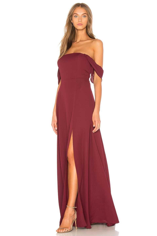 Kleid lang off shoulder