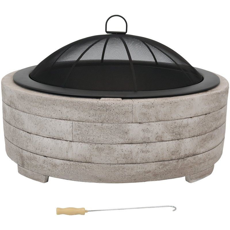 Wilhoit Faux Stone Ring Concrete Wood Burning Fire Pit Wood Burning Fires Wood Burning Fire Pit Fire Pit Ring