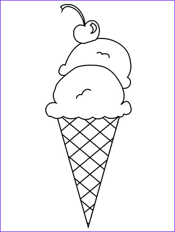45 Elegant Gallery Of Ice Cream Cones Coloring Page - Coloring Page for Kids