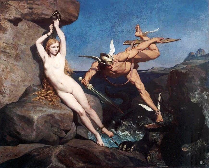 Perseus Freeing Andromeda 1865 Emile Bin French 1825 1897 Oil On Canvas Greek And Roman Mythology Art Mythology