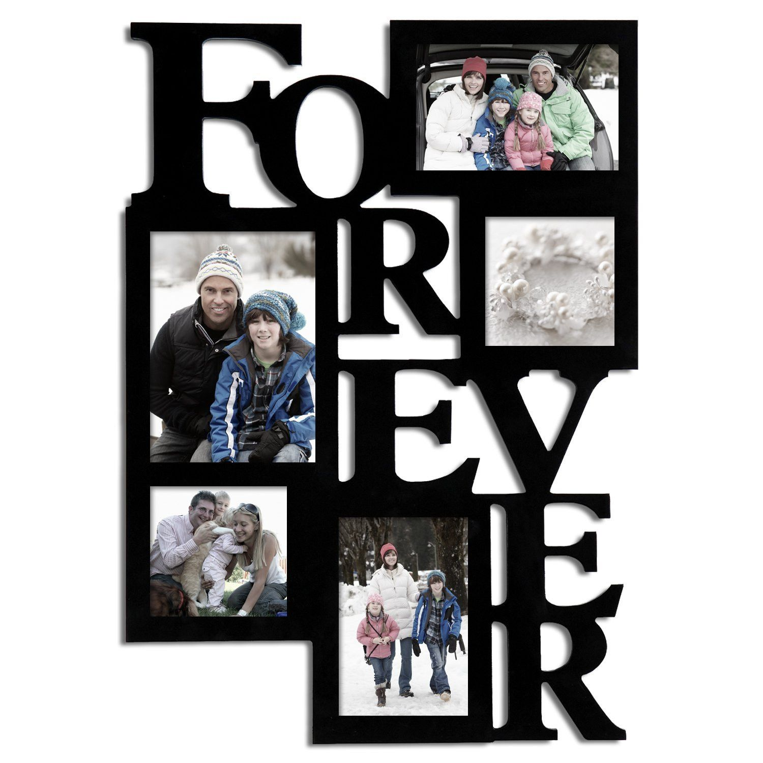 Zipcode Design 5 Opening Decorative Wood Forever Collage Wall ...