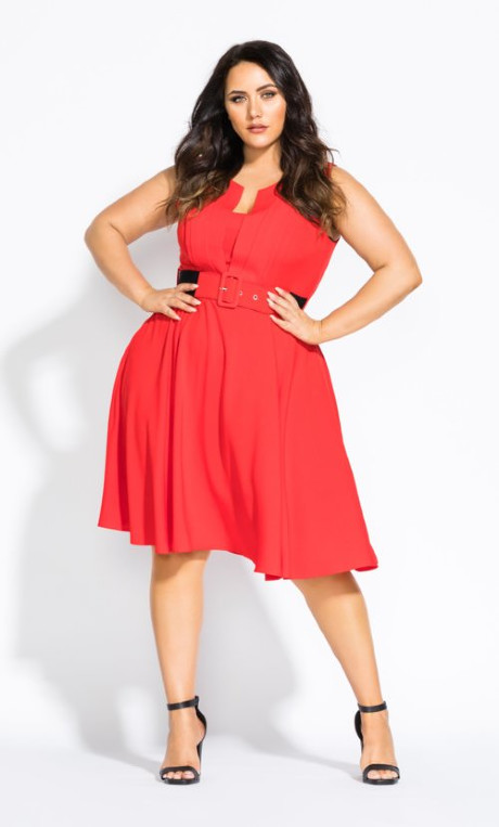 Vintage Veronica Dress Red In 2020 City Chic Dresses Dresses Plus Size Dresses