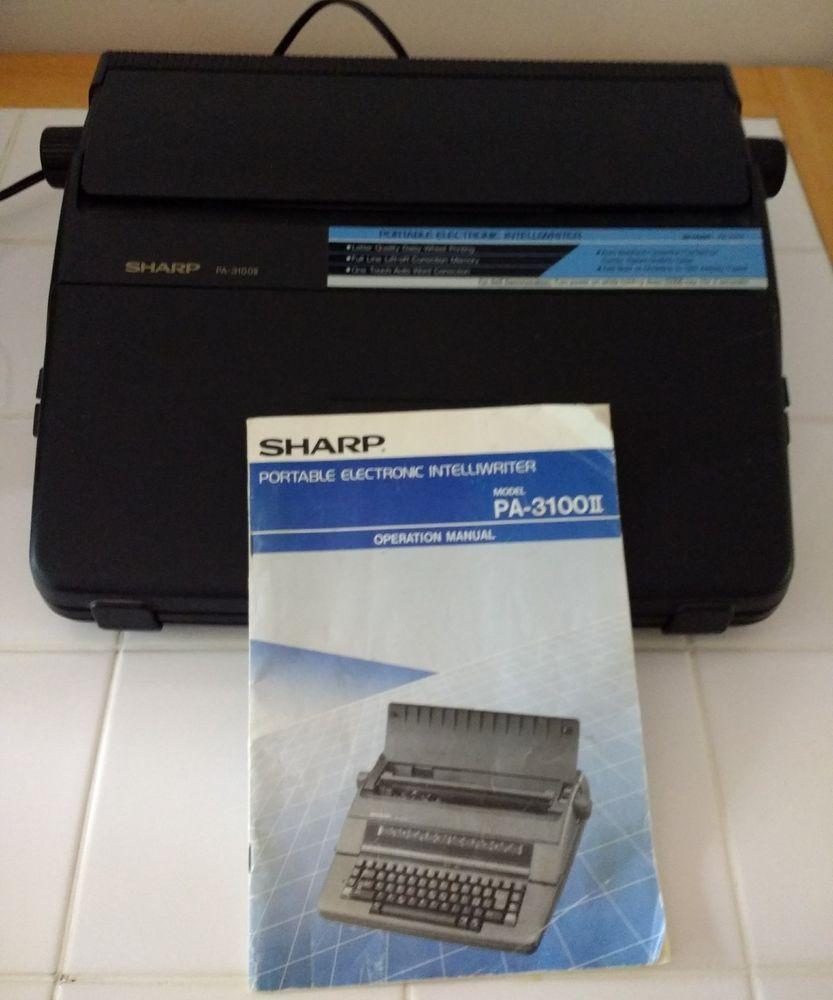 sharp pa 3100 ii portable electronic intelliwriter typewriter key rh pinterest com Electric Typewriter Electric Typewriter