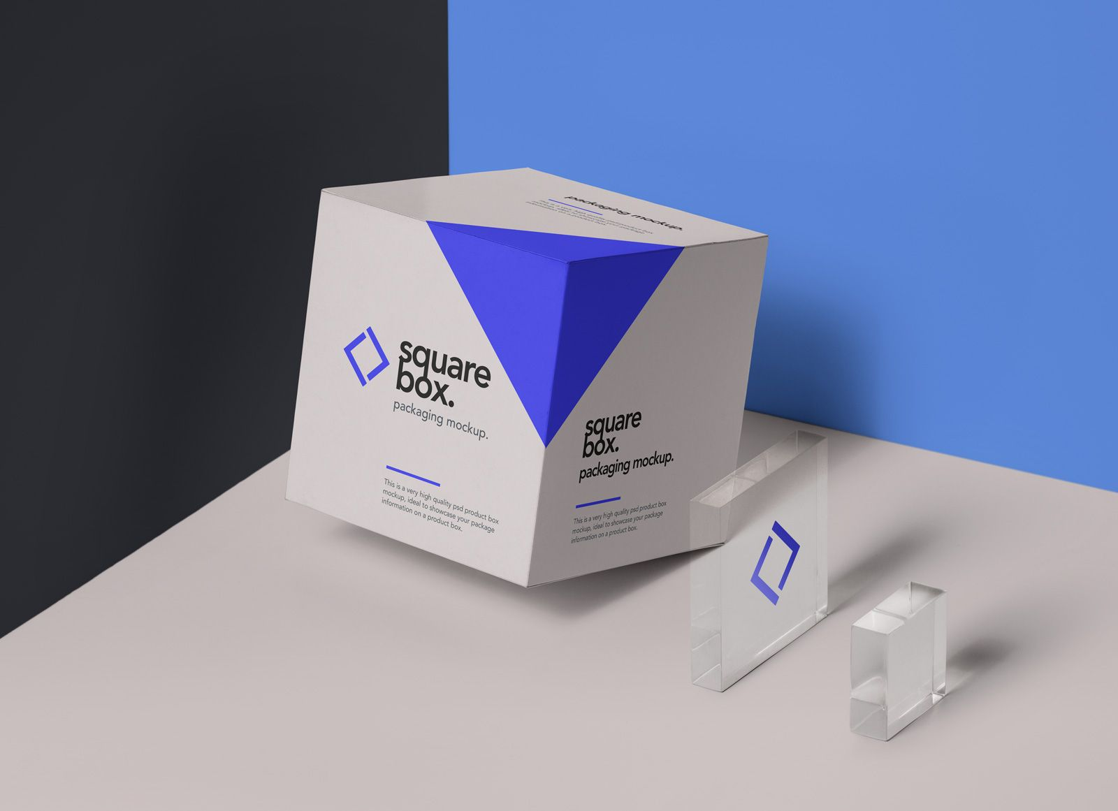 Download A Photoshop Generated Box Packaging Mockup Along With Two Glass Decorations To Deal With The Ne Packaging Template Design Box Packaging Design Packaging Mockup