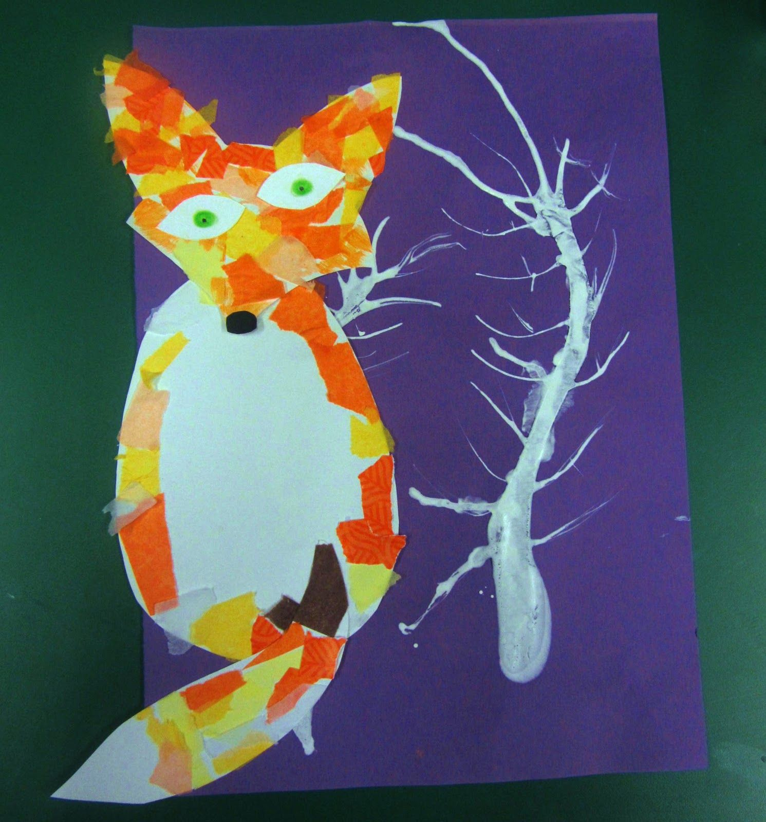 Arctic Fox Craft For Kids Using Tissue Paper Perfect For