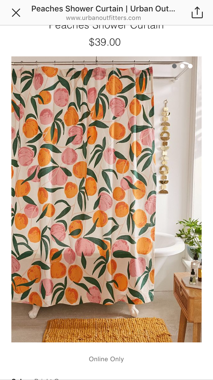 Pin By Nicole On Home Decor Peach Shower Curtain Home