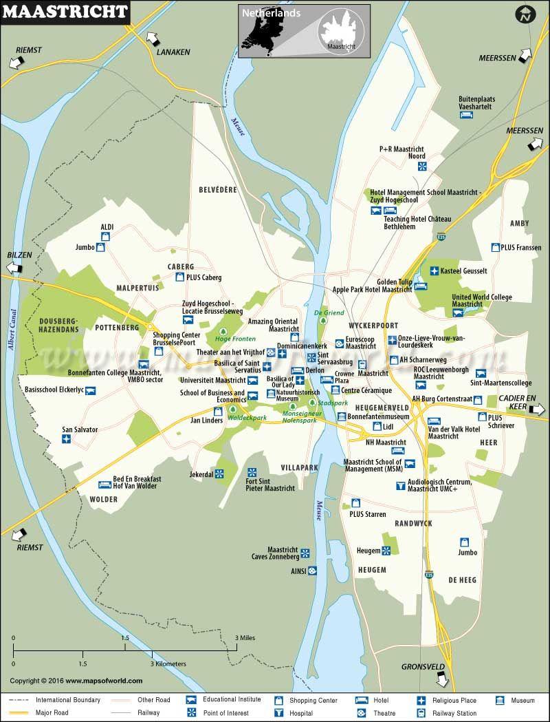 Maastricht Map Map Tourist Places