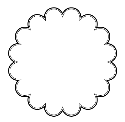 104 Views Simple Scrapbook Circle Template Doodle Frame