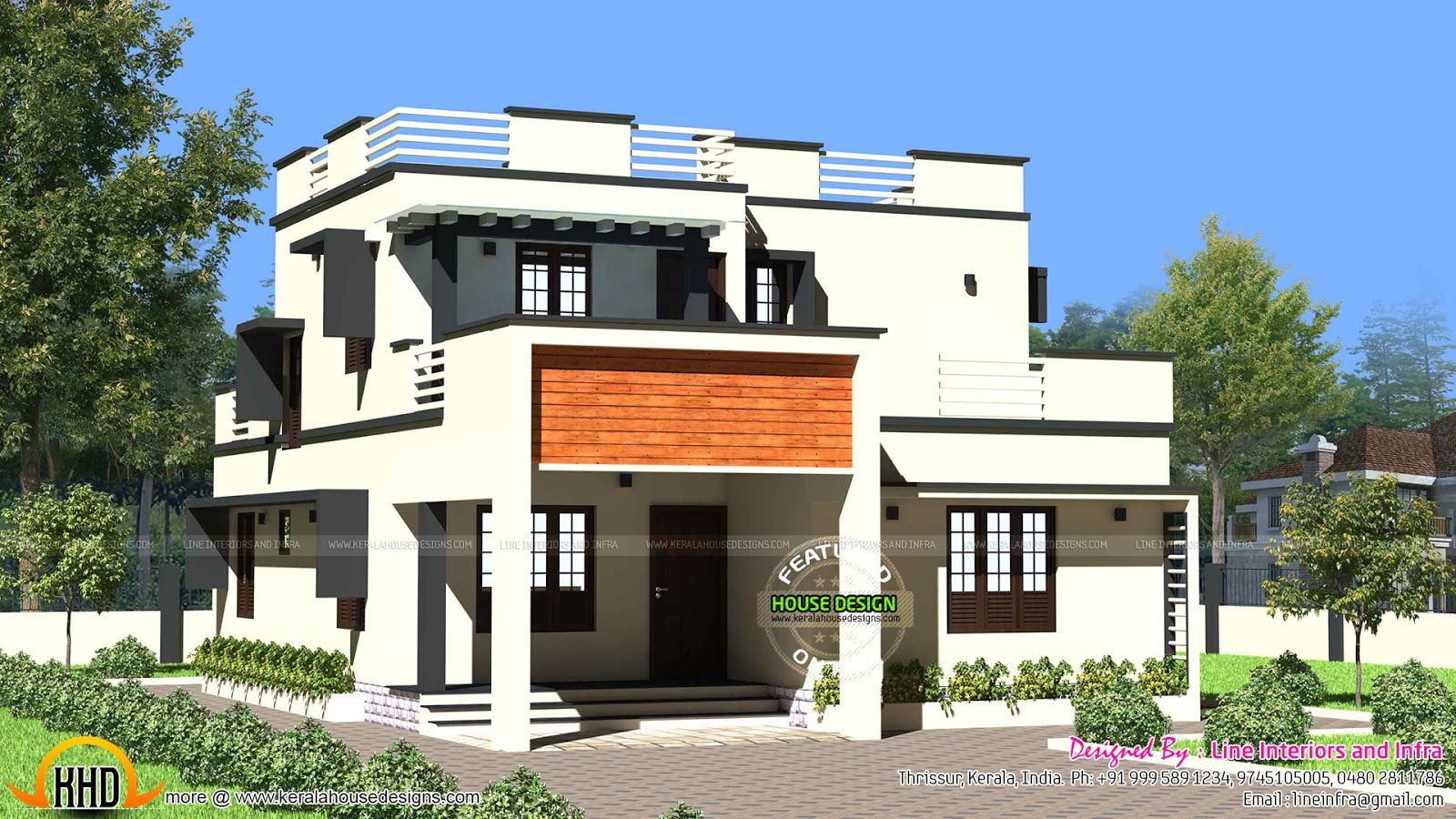 Facilities In This House Modern Flat Roof House Kerala Home Design ...