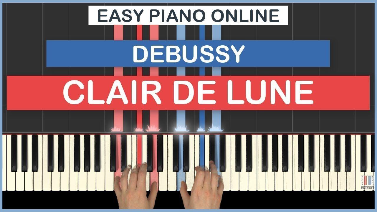 How To Play Clair De Lune Claude Debussy Piano Tutorial