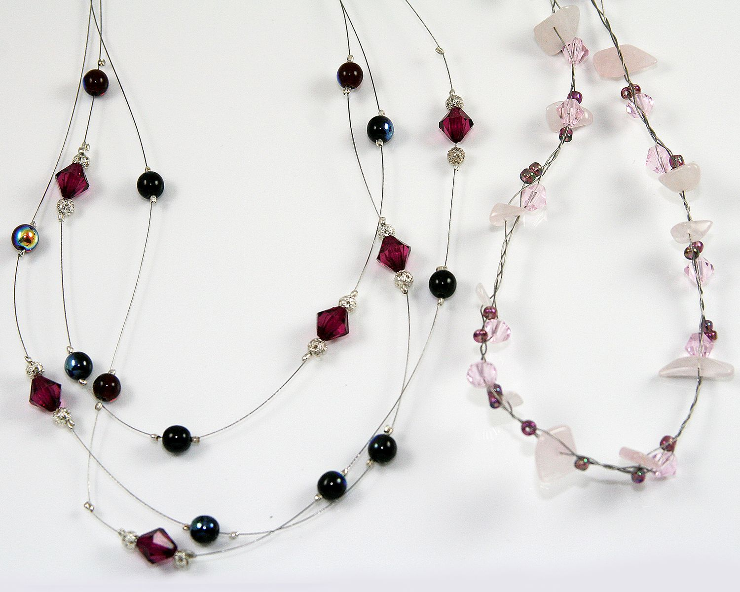 Jewellery Making At Rosewill Cottage Floating Bead Necklaces