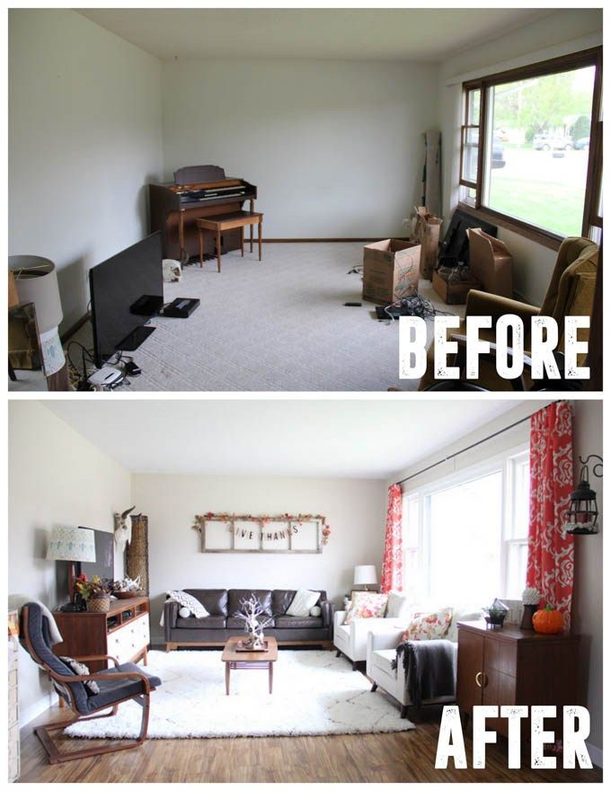 How To Flip A House Quickly Living Room Remodel Living Room Makeover Living Room Decor