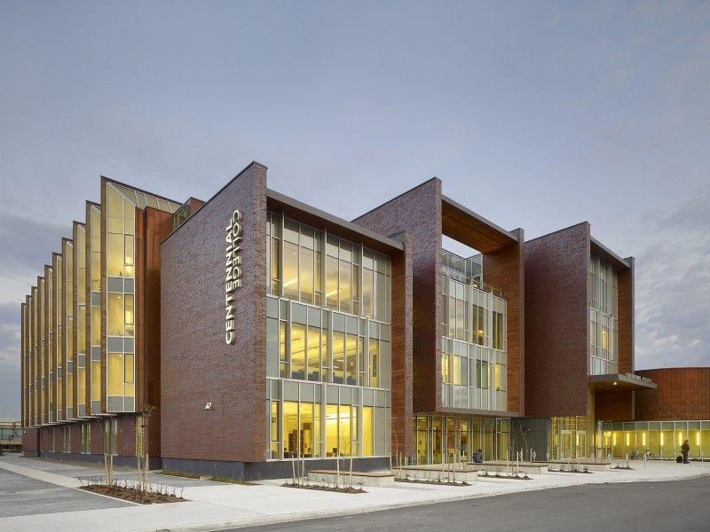 Library And Academic Facility Centennial College Progress Campus Pug X Centennial College Copper In Architecture Architecture