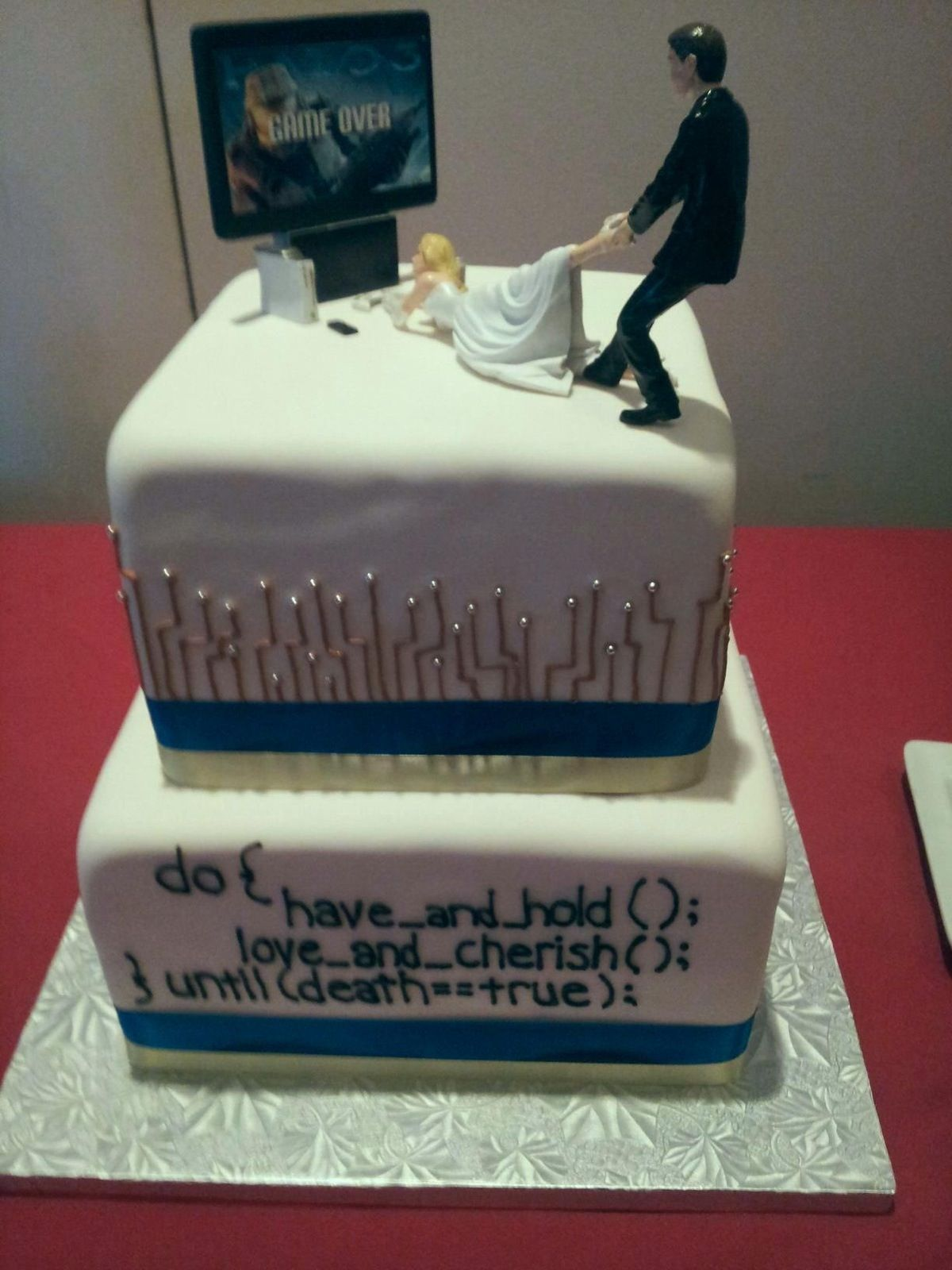 cake top gamers Geek Wedding Cake Toppers 1 Specialty Cake Toppers