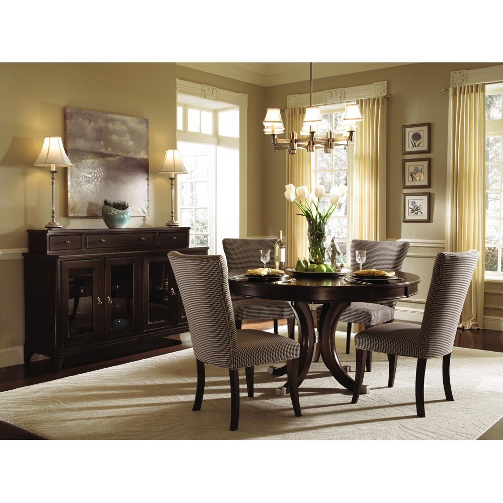 Alston Round Pedestal Dining Table Chairs By Kincaid Round Dining Table Sets Round Pedestal Dining Table Round Dining Table