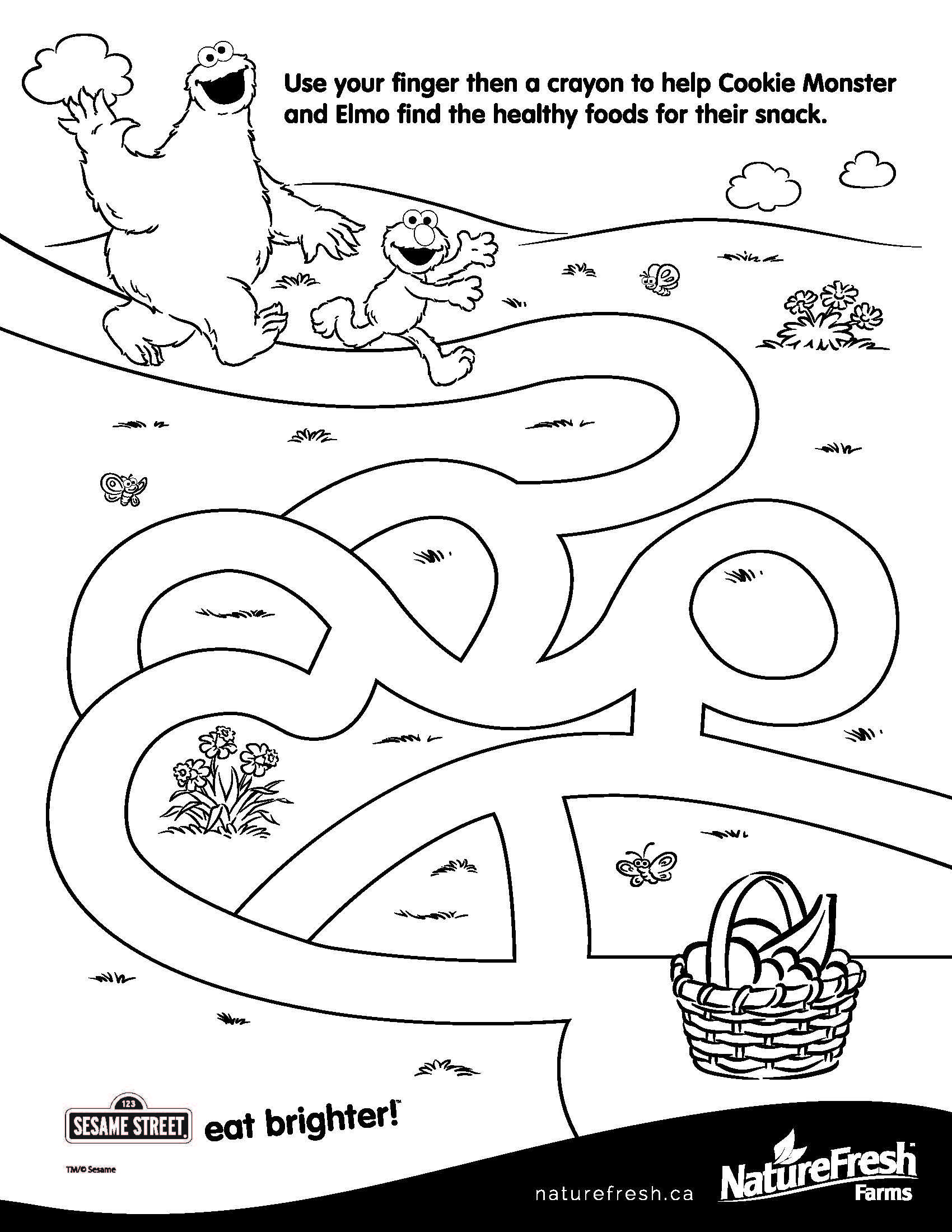Cookie Monster Eating Cookies Coloring Pages