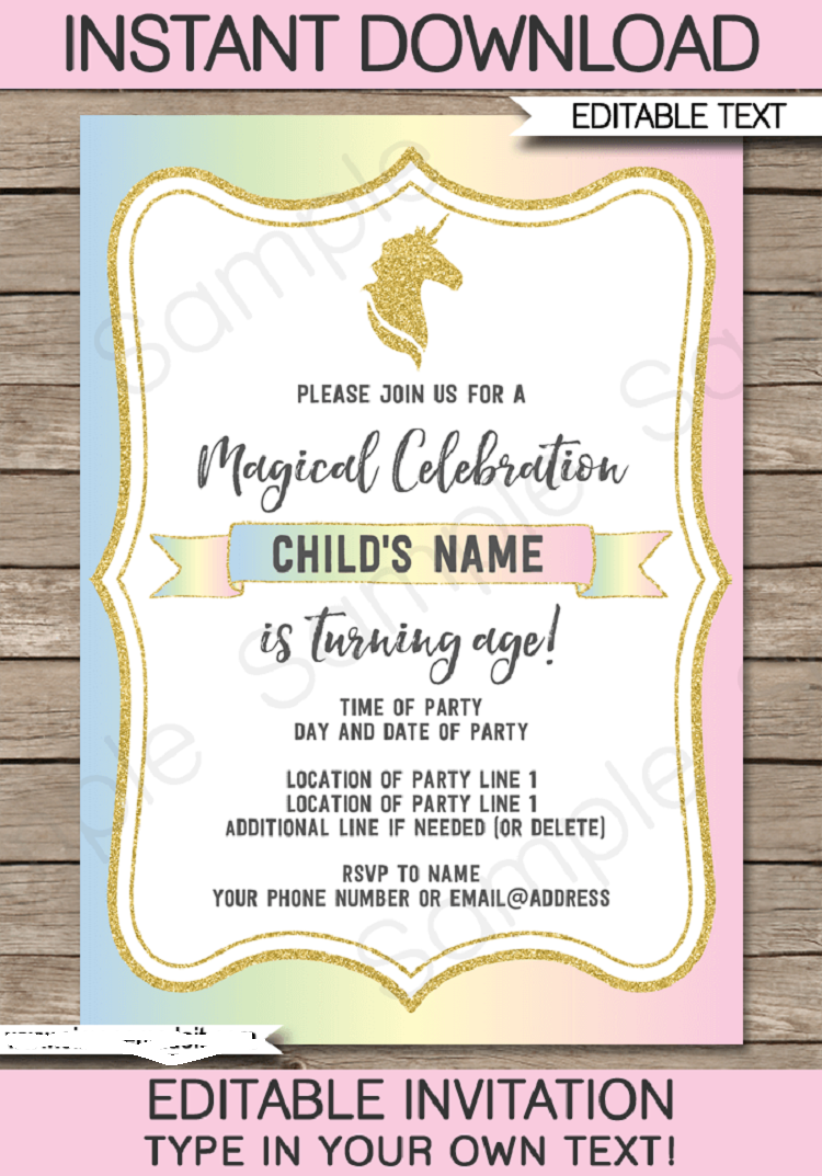 Party Invitation Template Printable Party Invitation Ideas In 2018