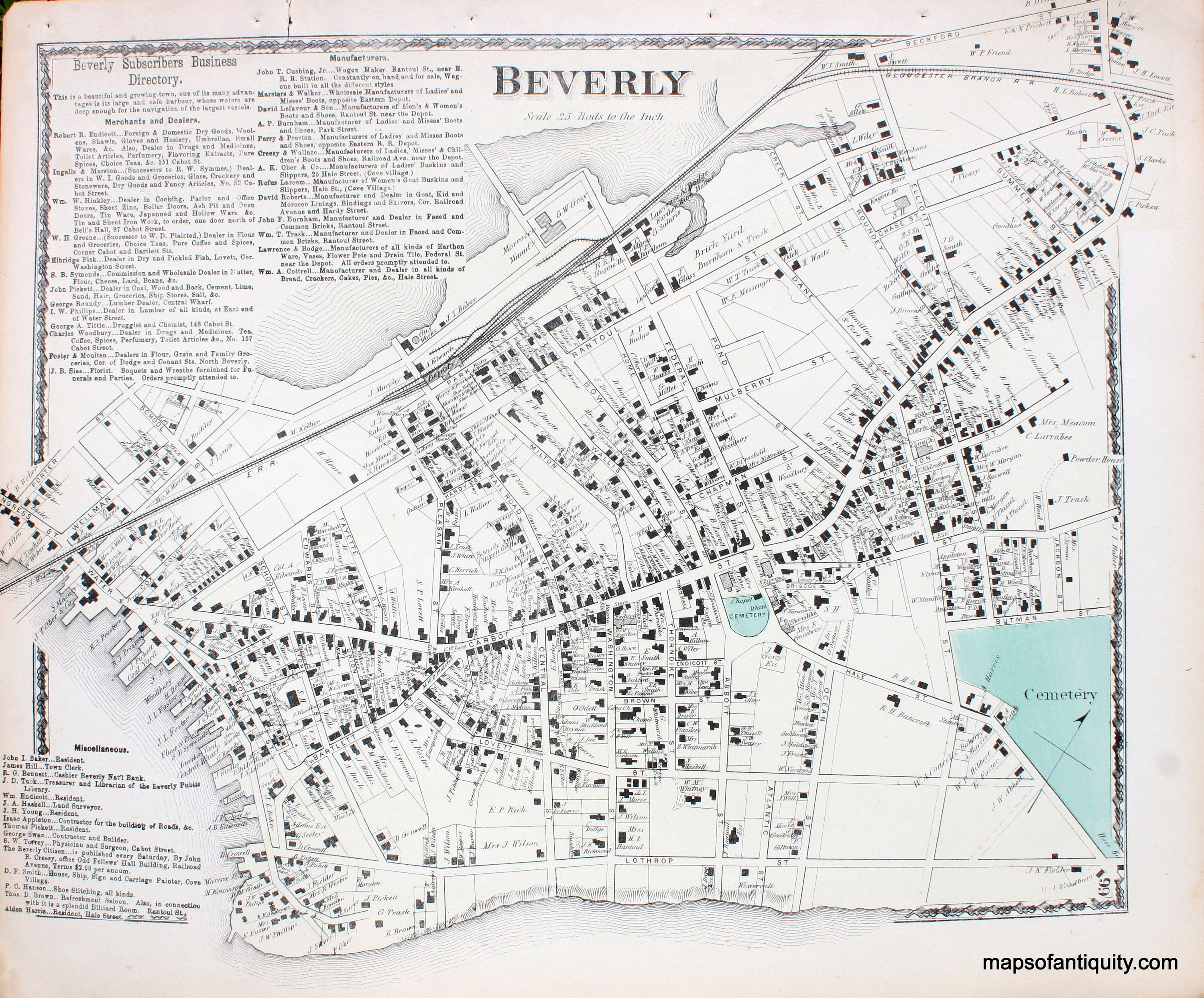 Beverly center massachusetts antique maps and charts beverly center massachusetts antique maps and charts original vintage nvjuhfo Gallery