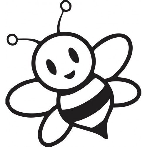 Cute Bumble Bee Coloring Pages Cartoon