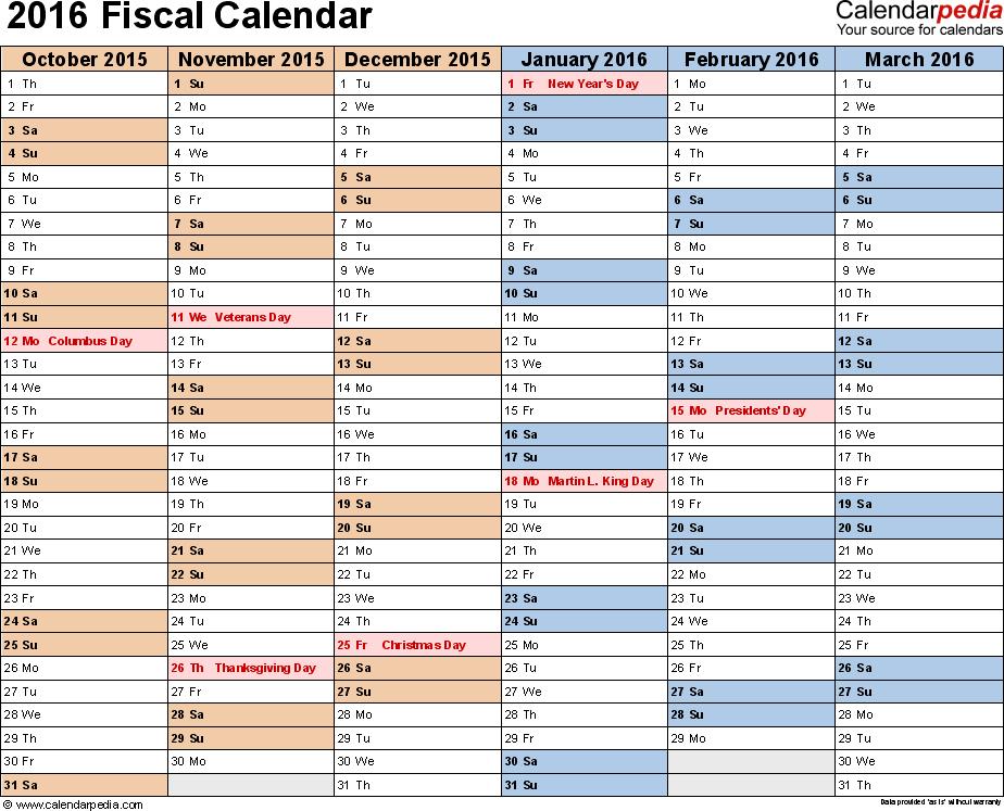 2016 2017 Fiscal Year Calendar Calendar Pinterest Calendars