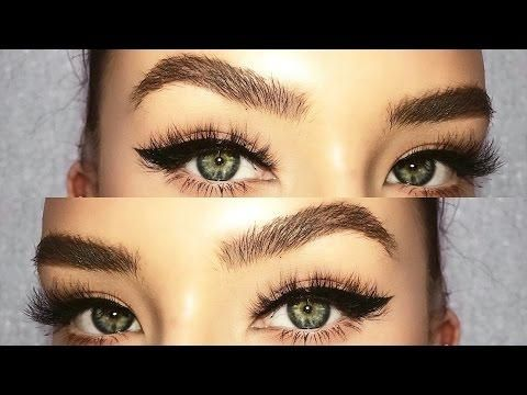 thick  natural bushy looking eyebrow tutorial for