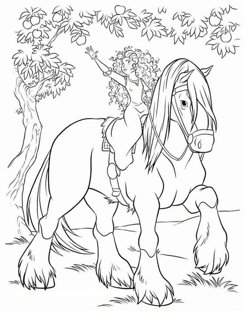 Brave on his her horse Printables Pinterest