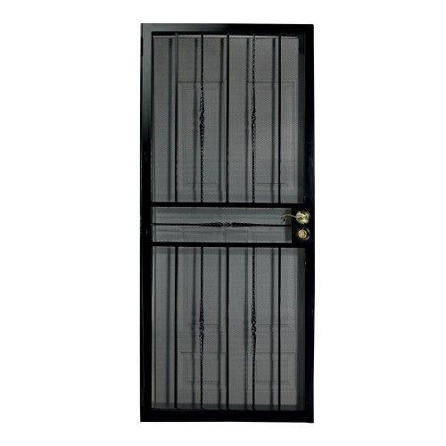 First Alert 681fa36x80 Venetian Security Screen Door 36in X 80in Black Security Screen Door Security Screen Screen Door