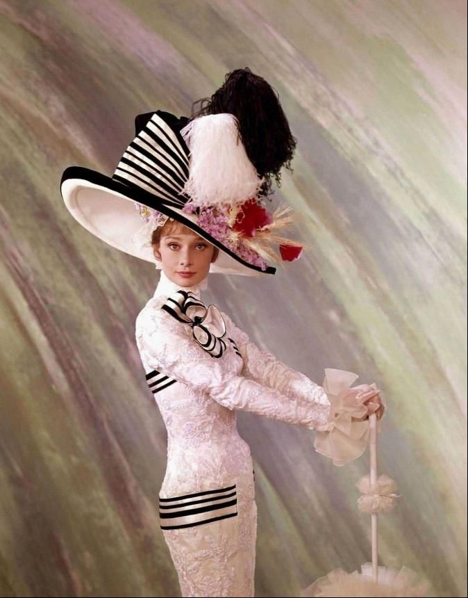 6e8705940f2 Audrey Hepburn knew how to wear a dress (and big hat).