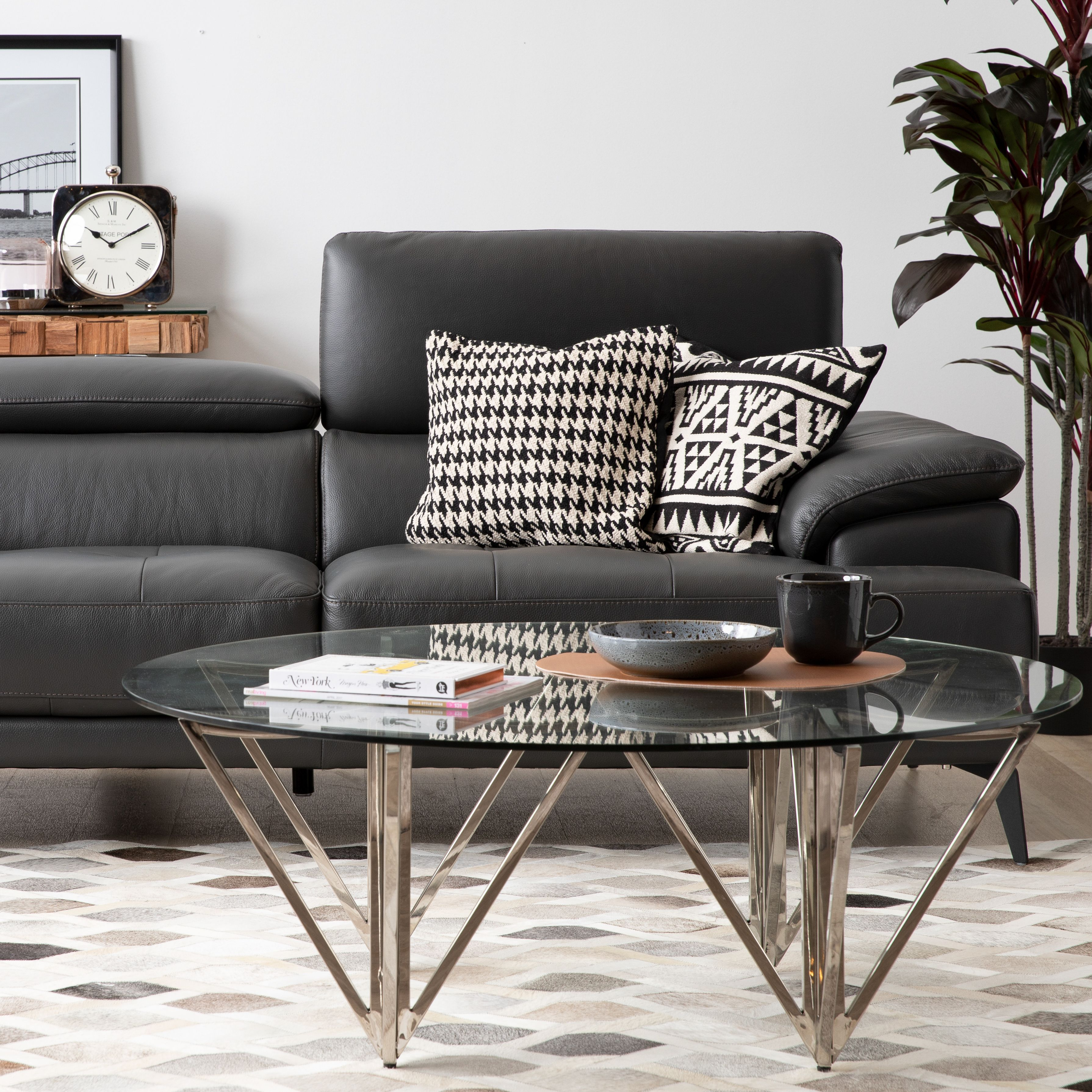 Arrow X Prospect Our Arrow Coffee Table Has A Simple And Modern Design That Pairs Beautifully With Our Prospect Sofa Coffee Table Table Glass Top Table