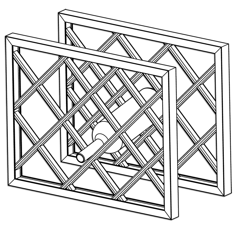 Lattice Wine Rack Dimensions Assembled With Frame Part 1736