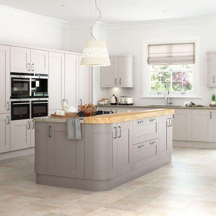 Grey Shaker Kitchen, Gray Cashmere Kitchen Cabinets