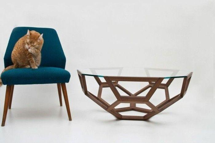 La table basse bois et verre en 43 photos d\'intérieur! | Pinterest ...