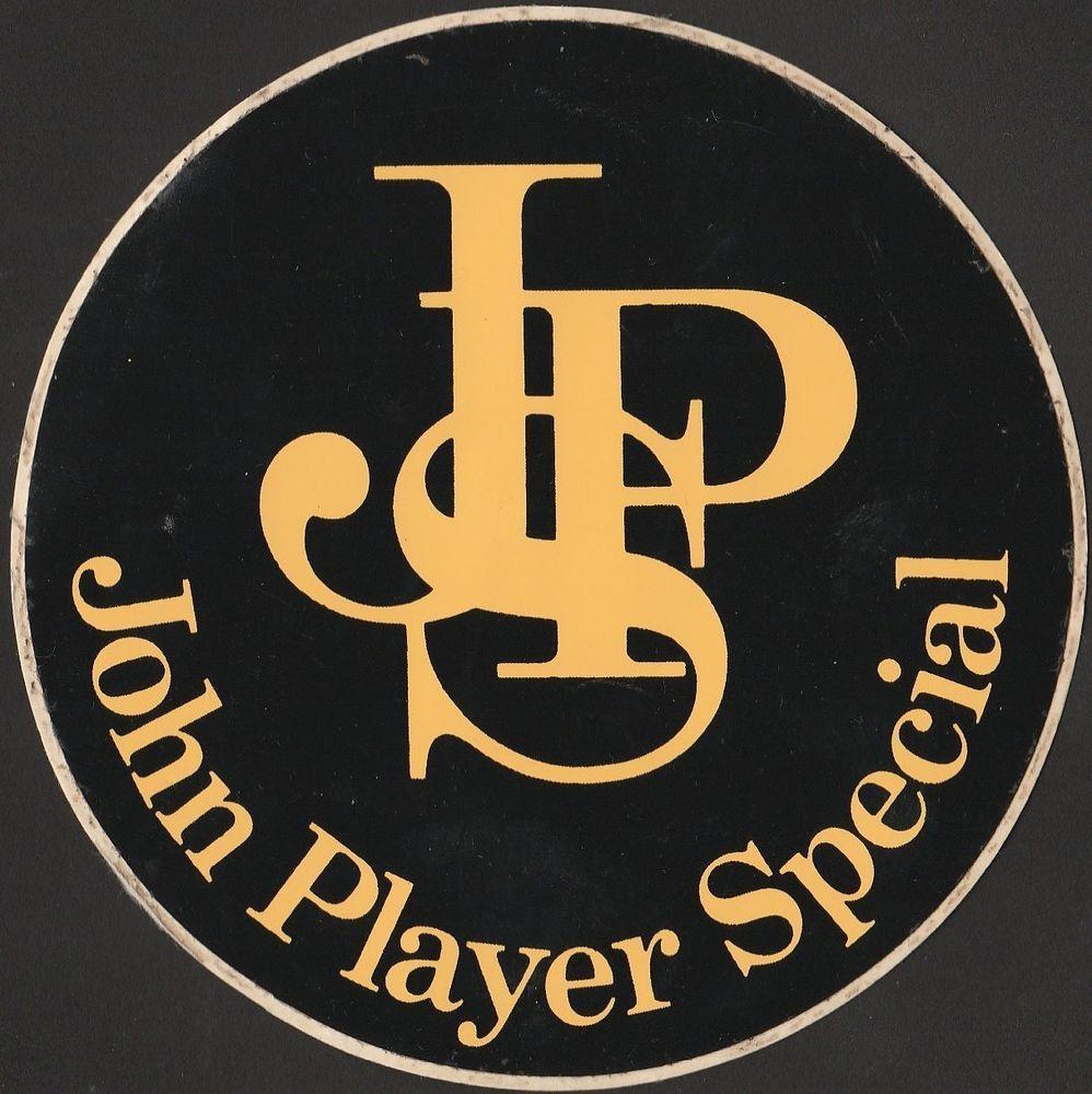 john player special jps f1 gp lotus original period sticker adesivo aufklleber motor sport