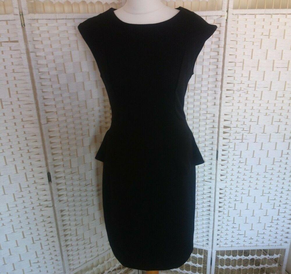 Ice London Womens Black Dress Size 16 Midi Stretch Peplum Waist Wiggle Work K31 Fashion Clothing Shoes Accessori Womens Black Dress Size 16 Dresses Dresses [ 941 x 1000 Pixel ]