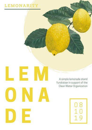 Lemonade Fundraiser Flyer  Templates By Canva  Graphic