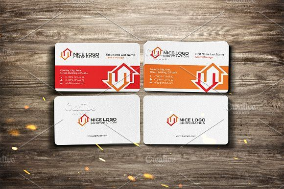Two Houses Business Card Business Cards Design Free Business Cards