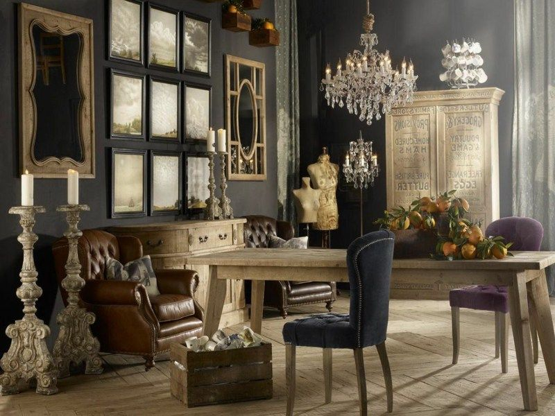 wohnungseinrichtungen im vintage stil. Black Bedroom Furniture Sets. Home Design Ideas