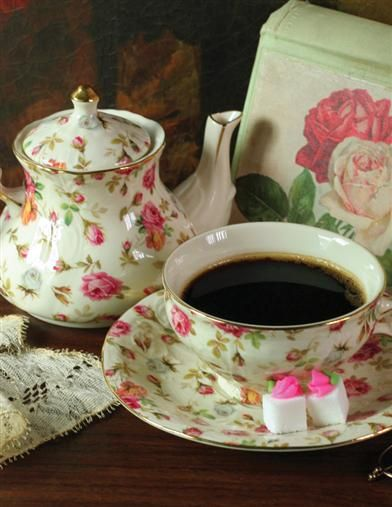 ELIZABETH PARK CHINTZ TEA FOR ONE - SPECIAL PRICE!