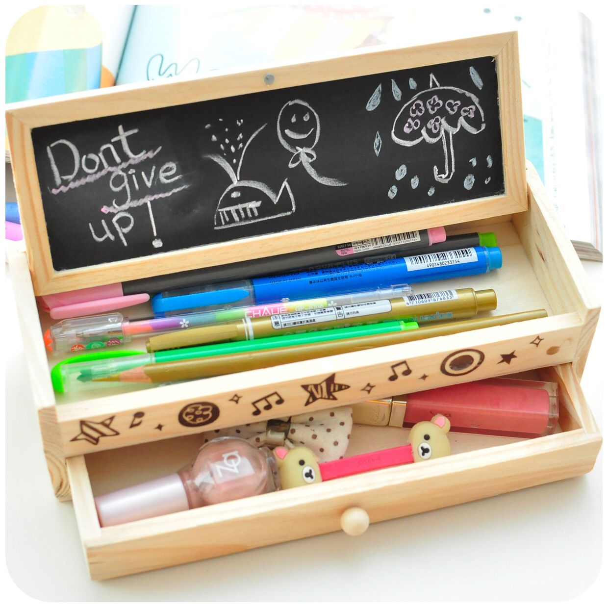 Wooden Tot Box Used For Stationary Faaliyet Sand Pinterest  # Muebles Tot Stil